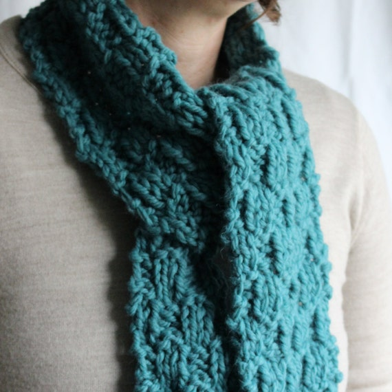 Quick Men s Scarf Knitting Pattern : KNITTING PATTERN / Scarf / Cowl / Quick & Easy Knit / Beginner / Super Bu...
