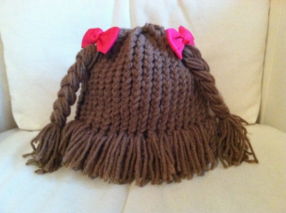 Cabbage Patch Style Knitted Hat