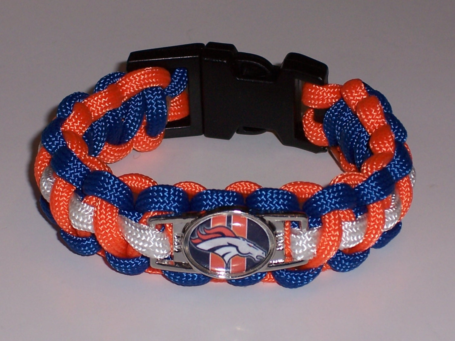 denver broncos paracord bracelet custom made