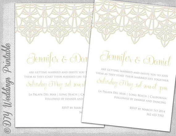 Lace Wedding Invitation Template