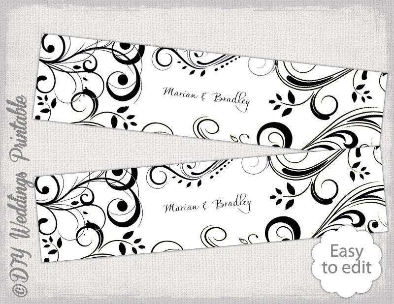 diy water bottle label template black and white. Black Bedroom Furniture Sets. Home Design Ideas