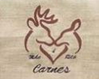 Deer Heads embroidery design
