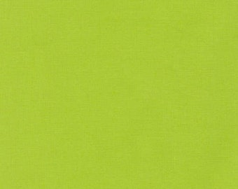 Solid Cotton Fabric Half Yard or By-The-Yard - KONA Chartreuse; Robert Kaufman; Color #1072