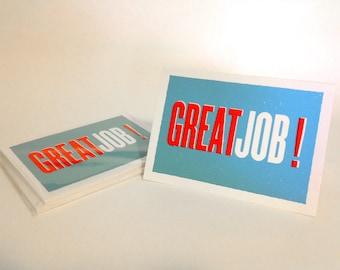 Great Job! Screenprinted Card Set