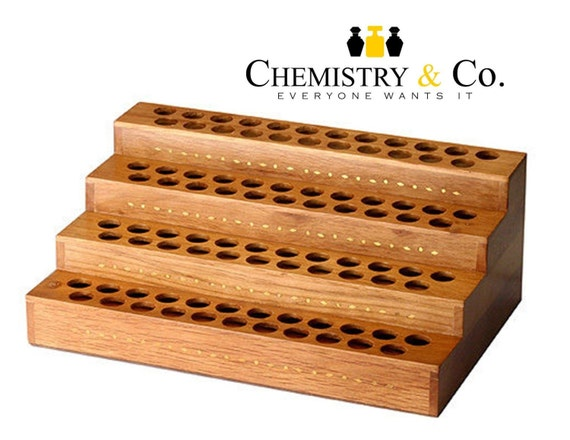 Essential Oil Display Wood Bottle Stand 4 Tier By Chemistryco