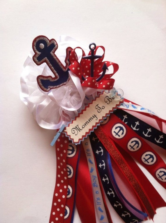 Nautical Anchor Mommy To Be Baby Shower By