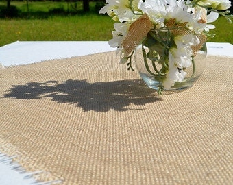 "Table Toppers - Burlap Wedding Squares - Burlap Overlay - Table Centerpiece - Set of 10 - 30"" x 30"" - Bridal Shower Decor"