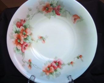 Lively floraL Silesia bowl, with gold edge.
