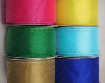 Chiffon Ribbon Wired Ribbon, 25-yard