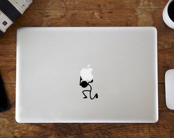 Stickman Carrying MacBook Decal