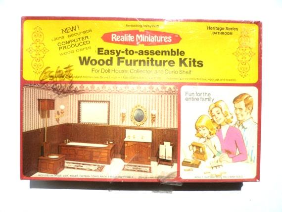 Vintage Realife Miniatures Wood Furniture Kits Heritage
