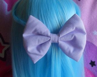 "5"" Sweet Lolita Lavender bow clip"