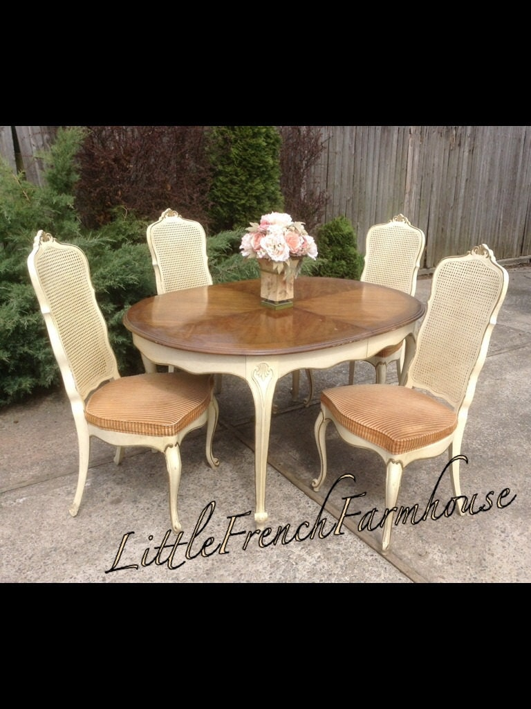 French Provincial Dining Room Sets French Provincial Louis Xv Dining Room Set By Mylilfrenchfarmhouse