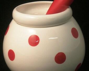 CLEARANCE SALE - Ceramic Dip Bowl ~ Dip bowl and spreader ~ Hot/Cold Dip Bowl