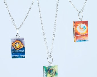Divergent Inspired Trilogy Series Book Novel Necklace