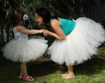 Adult Tutu, Bridesmaid Adult Tutu,Ivory Wedding Tutu,Matching Mother Daughter Tutu - Choose the color