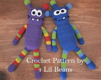 Crochet Pattern: Crochet Monster Pattern, Crochet Amigurumi Pattern, Crochet Doll Pattern, Gift Idea, Crochet Tutorial (Pattern 16)