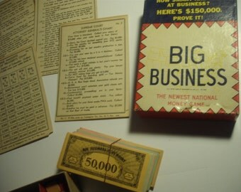 1936 Transogram Co  -  New York - Big Business Game - Used
