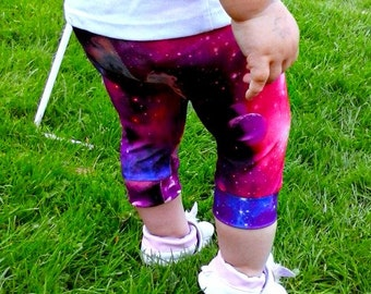 Galaxy Nebula Leggings pants Space baby/toddler/ kids planet stars lycra