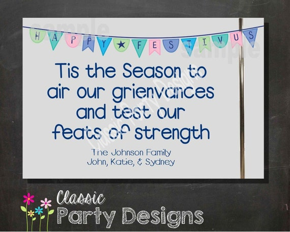 Happy festivus holiday greeting card digital file or printed cards il570xn m4hsunfo