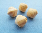 25mm Spinning Top Wood Large Hole Spacer Beads Pendant Charm Finding DIY Accessory Jewellery Making