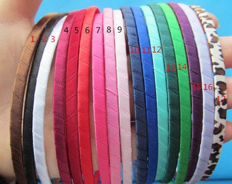 5mm 25 Colors  Metal Ribbon Wrapped  Headband/Hairband Charm Finding,DIY Accessory Jewelry Making