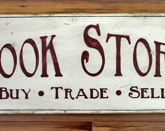 Rustic wooden sign 'Book Store'