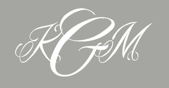 kgm monogram white decal 10 u0026quot  tall by 20 u0026quot  wide