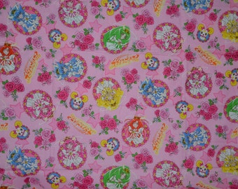 Suite Pretty Cure Roses Anime Fabric - Fat Quarter