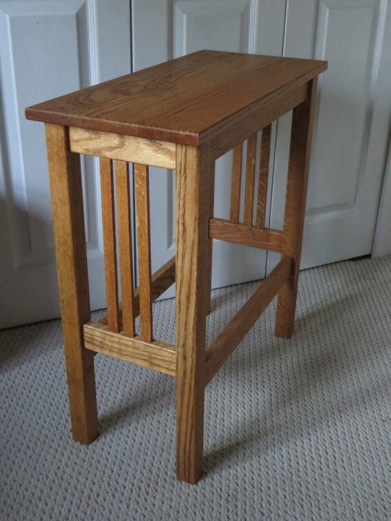 Mission Style End Table Side Table by SummitWoodWorks on Etsy