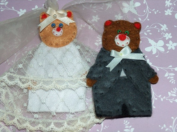 Finger puppets wedding felt favor