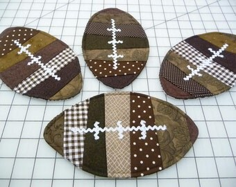 Football Mug Rugs - Coasters - Set of Four
