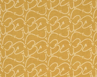 Lila Tueller Riley Blake Valencia Squiggle Yellow - 1 Yard ONLY