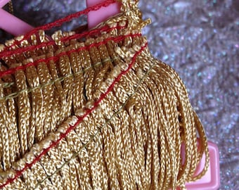 "3 3/4 "" Gold Fringe Trim"