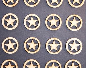 Miniature Wood Star Embellishment