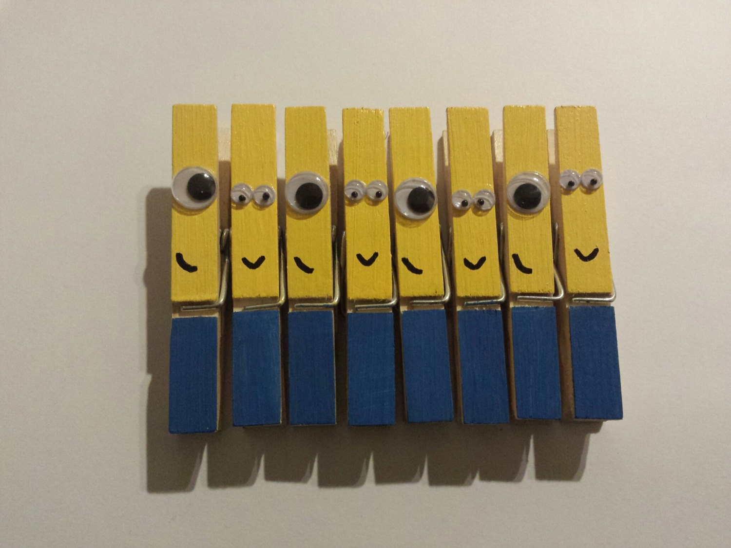 Minion inspired clothespins set of 8 for Minion clothespins