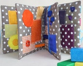 Quiet Book, Colors Sensory Busy Book, Fabric Baby Book, Montessori, Waldorf Book, Sensory Toys