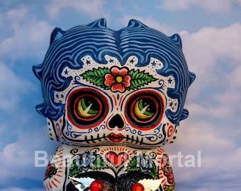 Beautiful Mortal Adorable Dia De Los Muertos Deadey Boop Canon PRINT 435 Reproduction by Michael Brown