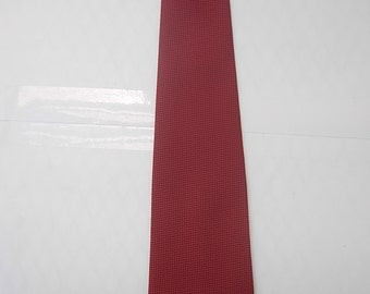 Red Satin Late 1960s Textured Tie