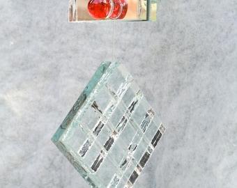 Mirror Art, Mirror Garland, Sun-Catching Mirror, Recycled Mirror, Handmade OOAK, Holiday Gift Idea