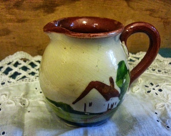 Torquay Mottoware Small Pitcher or Creamer Straight from the Farm