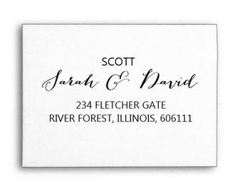 Custom Name Stamp, Personalised Name Stamp, Custom Rubber Stamp, Calligraphy Stamp, Wood handle or Self Inking