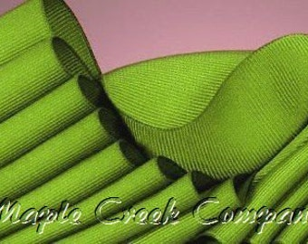 "5 yards Apple Green Grosgrain Ribbon, 4 Widths Available: 1 1/2"", 7/8"", 5/8"", 3/8"""