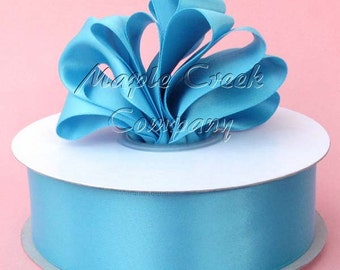 5/8 inch x 100 yards of Turquoise Double Face Satin Ribbon