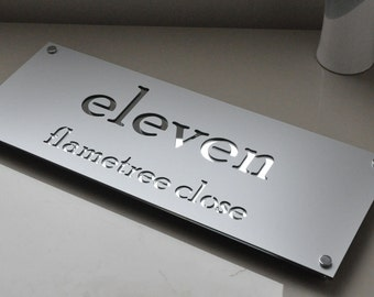Custom Made Laser Cut House Signs, Numbers and Plaques