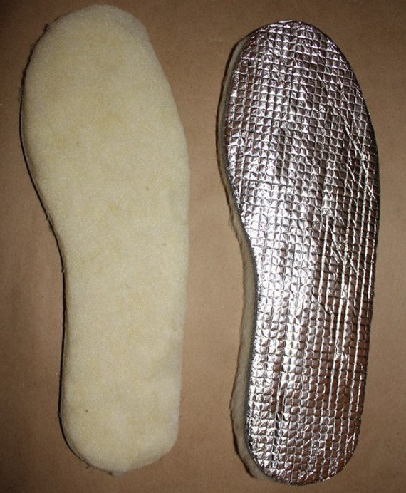 Thick leather shoe insoles