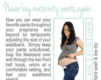 Maternity Band, Pregnancy Belt, Belly Band, Waistband Extender, Maternity Clothes