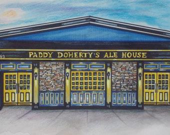 Paddy Doherty's Ale House, by Karen Paciullo, 2014, Throggs Neck, Bronx, NY, ready to frame art print