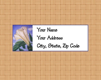 Address Labels Personalized Labels Return Labels Flower Labels Datura Flower
