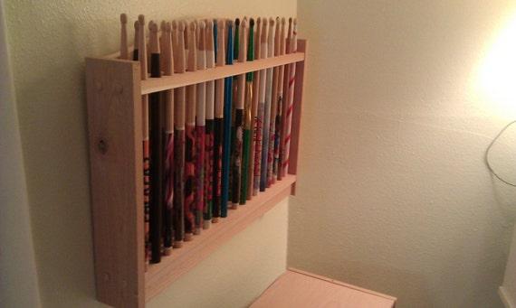 drum stick display rack drumstick holder solid by mysticmosswoods. Black Bedroom Furniture Sets. Home Design Ideas